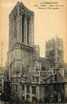 cl 03 055 Caen-Eglise St-Jean vue de la tourpenchée