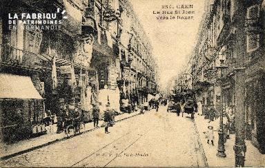 cl 03 066 Caen - La rue St-Jean vers le bazar