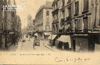 cl 03 084 Caen - La rue et la tour St-Jean