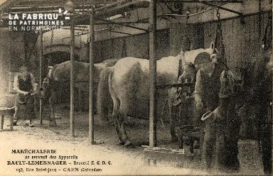 cl 03 091 Caen Maréchalerie se servant des appareils Rault- Lemesnager