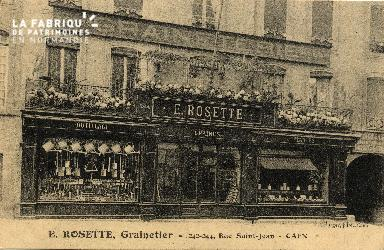 cl 03 096 Caen - E. ROSETTE, Grainetier - 242-244, rue St-Jean