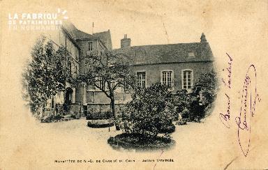 cl 03 103 Caen, Monastère de la Charité- Jardin d'entrée