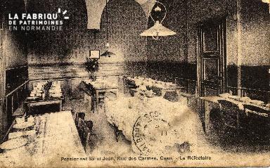 cl 03 143 Caen- Pensionnat St-Jean, rue des Carmes - Le refectoire