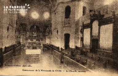 cl 03 168 Caen - communauté de la miséricorde - chapelle intérieur