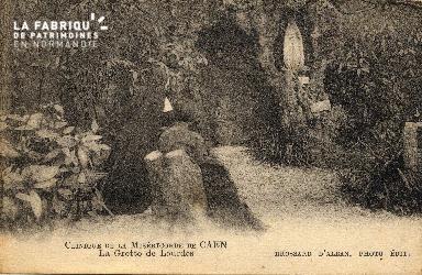 cl 03 175 Caen - clinique de la miséricorde- la grotte de Lourde