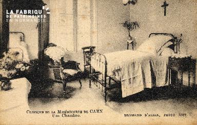 cl 03 176 Caen - clinique de la miséricorde - Une chambre