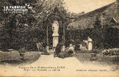 cl 03 177 Caen - clinique de la miséricorde- repos des malade au jardi