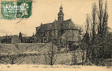 cl 03 188 Caen- église Notre Dame (côté de l'Abside)