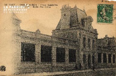 cl 03 189 Caen Groupe scolaire- Place Gambetta- Pavillon central - Éco