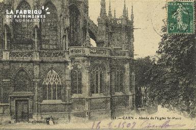 Cl 04 007  Caen- Abside de l'église St-Pierre
