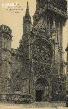 Cl 04 009 Caen- Portail principal de l'église St-Pierre (XVI siècle)