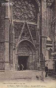 Cl 04 011 Caen- l'église St-Pierre - Portail (XVI siècle)