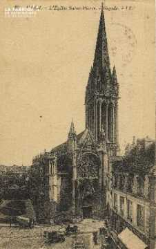 Cl 04 013 Caen- l'église St-Pierre - Façade