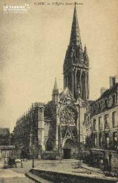 Cl 04 014 Caen- l'église St-Pierre