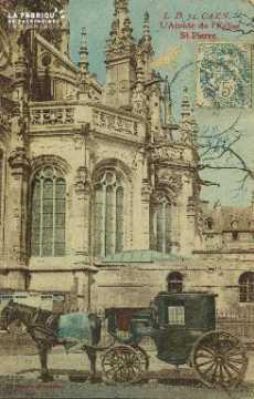 Cl 04 019 Caen- Abside de l'église St-Pierre