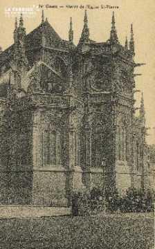 Cl 04 020 Caen- Abside de l'église St-Pierre