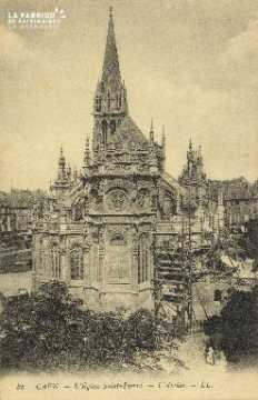 Cl 04 022 Caen- l'église St-Pierre - L'Abside
