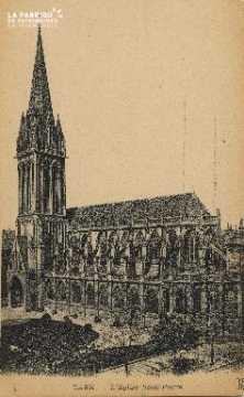 Cl 04 024 Caen- l'église St-Pierre