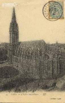 Cl 04 025 Caen-  l'église St-Pierre