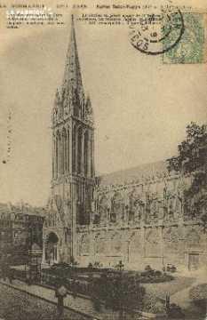 Cl 04 026 Caen- l'église St-Pierre (XI et XIII siècle)