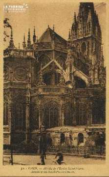 Cl 04 027 Caen- Abside de l'église St-Pierre