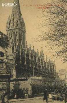 Cl 04 028 Caen-  l'église St-Pierre (côté nord)