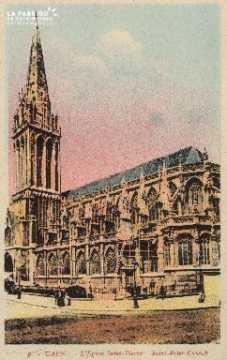 Cl 04 029 Caen- l'église St-Pierre