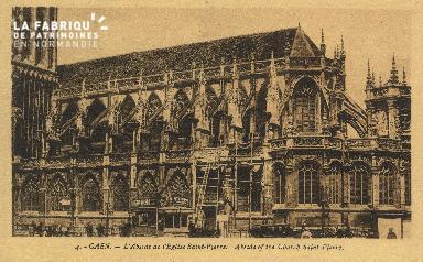 Cl 04 036 Caen- Abside de l'église St-Pierre