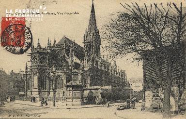 Cl 04 041 Caen-  l'église St-Pierre, vue d'ensemble