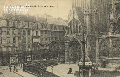 Cl 04 042 Caen- l'église St-Pierre et le square