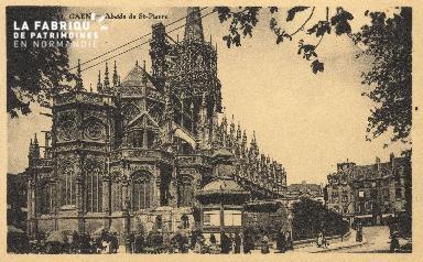 Cl 04 055 Caen- Abside de l'église St-Pierre