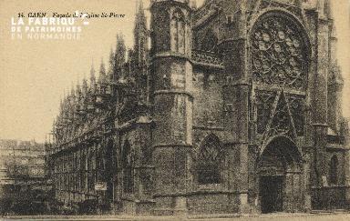 Cl 04 057 Caen- Façade de l'église St-Pierre