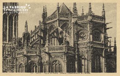 Cl 04 061 Caen- l'église St-Pierre - Détails d'architecture de l'Absid