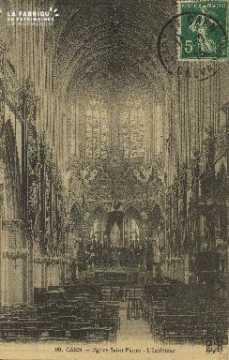Cl 04 064 Caen- l'église St-Pierre- L'Interieur