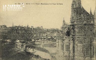 Cl 04 066 Caen- Abside de St-Pierre (renaissance) et Place St-Pierre