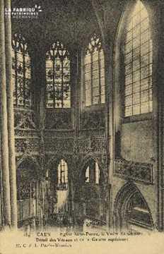 Cl 04 073 Caen- l'église St-Pierre - La voute St-Pierre, Détail des vi