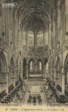 Cl 04 074 Caen- l'église St-Pierre, Le choeur