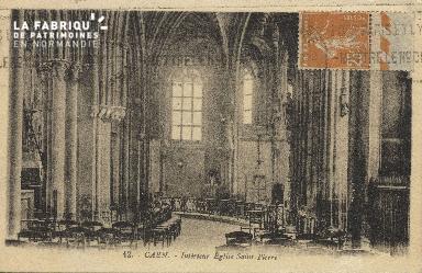 Cl 04 075 Caen- Interieur de l'église St-Pierre