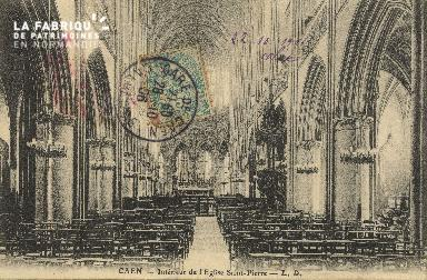 Cl 04 076 Caen- Interieur de l'église St-Pierre