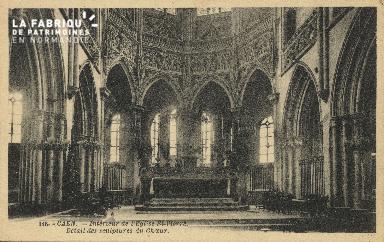 Cl 04 077 Caen- Interieur de l'église St-Pierre- Détail des scultures