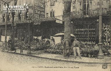 Cl 04 086 Caen- Boulevard St-Pierre, Marché aux fleurs