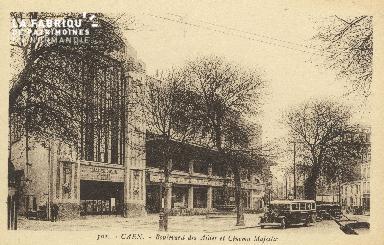 Cl 04 118 Caen- Boulevard des Alliès et cinéma Majestic