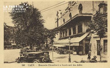 Cl 04 119 Caen- Brasserie Chandivert et boulevard des Alliès