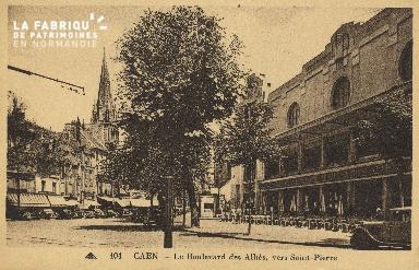 Cl 04 122 Caen- Boulevard des Alliés, vers St-Pierre