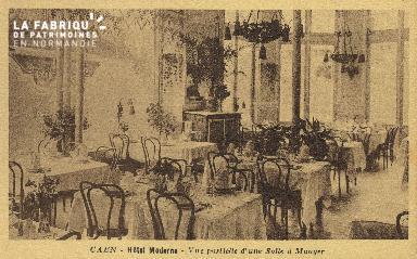 Cl 04 125 Caen- Hôtel Moderne- Vue partielle d'une salle à manger