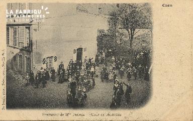 Cl 04 129 Caen- Déposant : Déposant : institution de Melle Ferreux - Cour de récréation