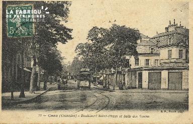 Cl 04 130 Caen- Boulevard St-Pierre et salle des ventes