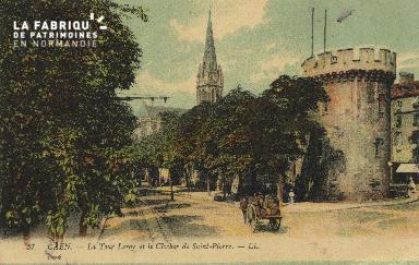 Cl 04 144 Caen- La tour Leroy et le Clocher de St-Pierre