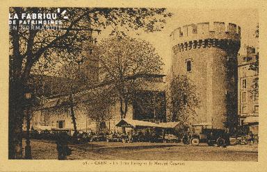 Cl 04 145 Caen- La tour Leroy et le marché Couvet
