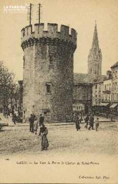 Cl 04 146 Caen- La tour Leroy et le Clocher St-Pierre